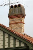 Figure 3: Another typical brick chimney design.