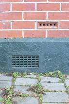 Figure 4: Detail showing foundation wall and cavity wall construction ventilation grilles.