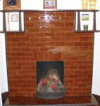 Figure 1: Tiled fireplace.