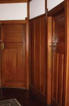 Figure 2: Hallway timber panelling.