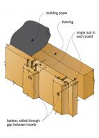 Figure 4: Vertical board and batten cladding.