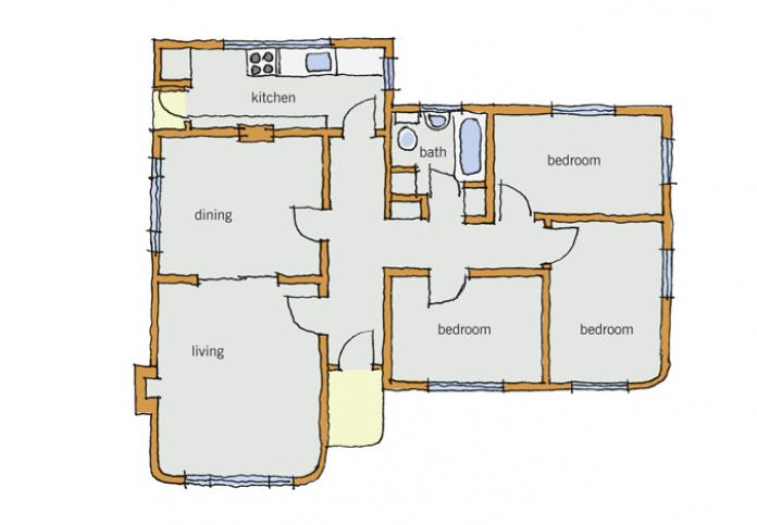 Typical House Layout Of Layout Branz Renovate